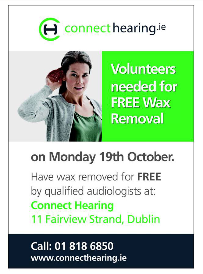 Free ear wax removal event Dublin