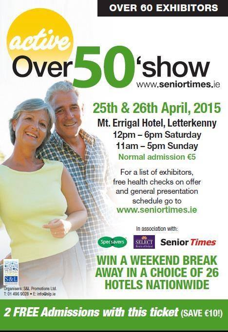 Free hearing test at the over 50s show Letterkenny